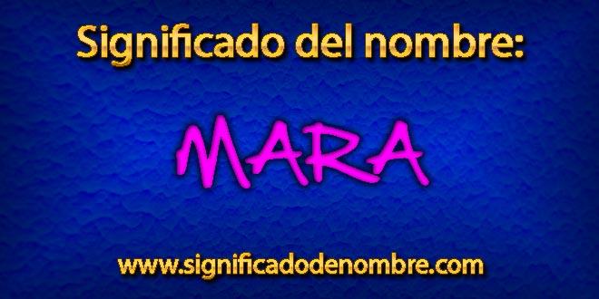 Significado de Mara