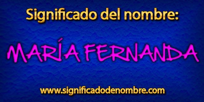 Significado de María Fernanda