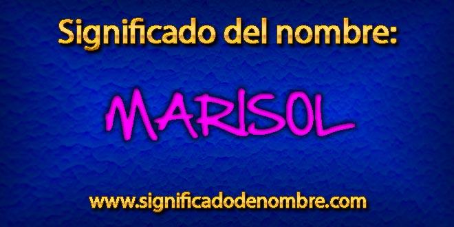 Significado de Marisol