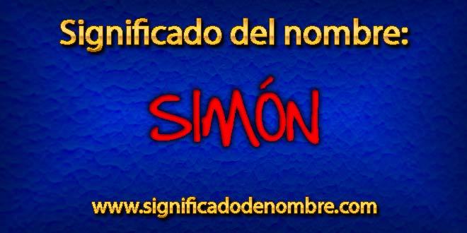 Significado de Simón
