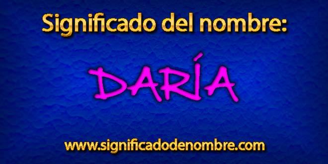 Significado de Daría