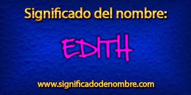 Significado de Edith