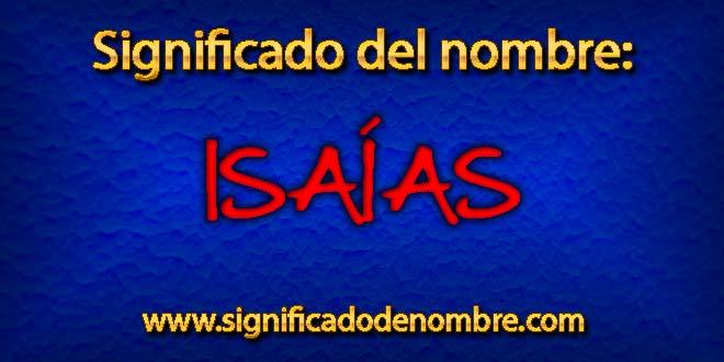 Significado de Isaías