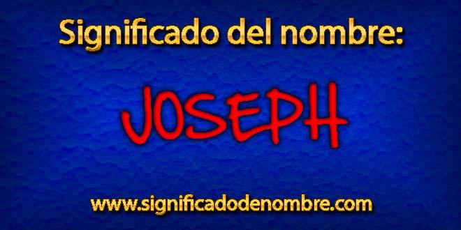 Significado de Joseph
