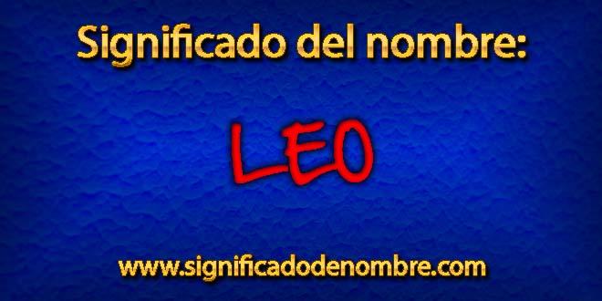 Significado de Leo