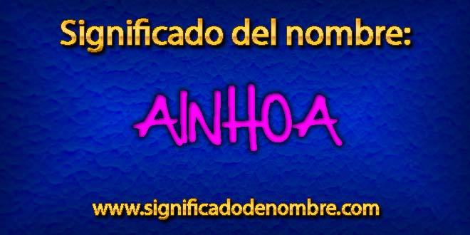 Significado de Ainhoa