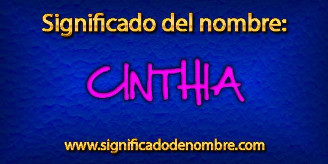 Significado de Cinthia