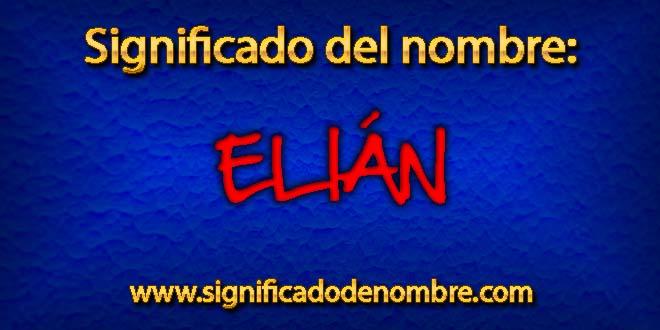 Significado de Elián