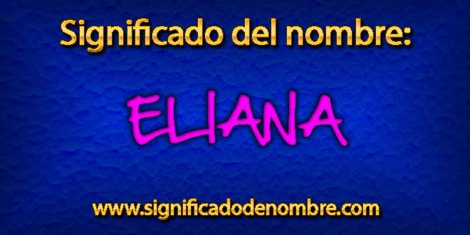 Significado de Eliana