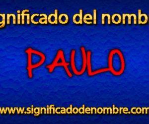 Significado de Paulo