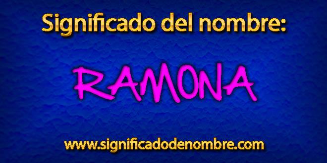 Significado de Ramona