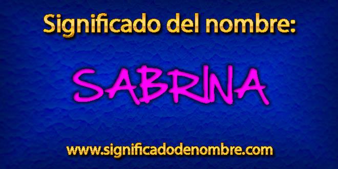 Significado de Sabrina