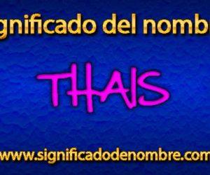 Significado de Thais