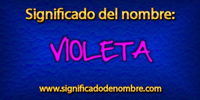Significado de Violeta