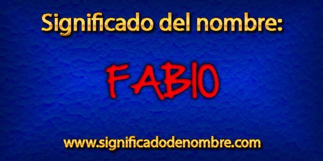 Significado de Fabio