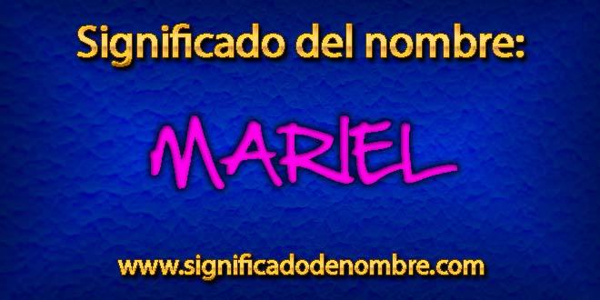 Significado de Mariel