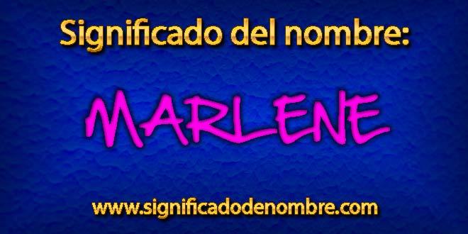 Significado de Marlene