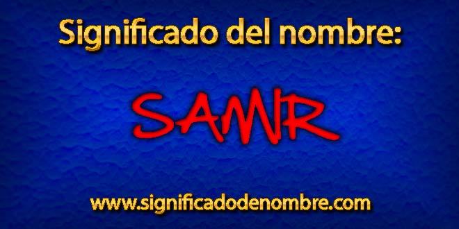 Significado de Samir