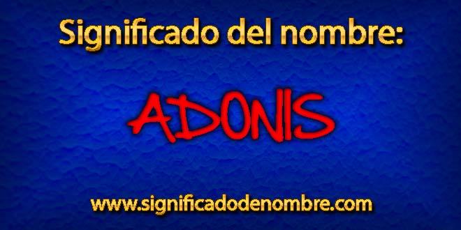 Significado de Adonis