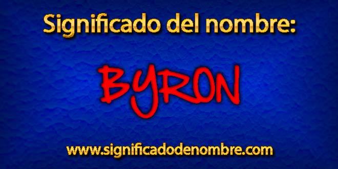 Significado de Byron