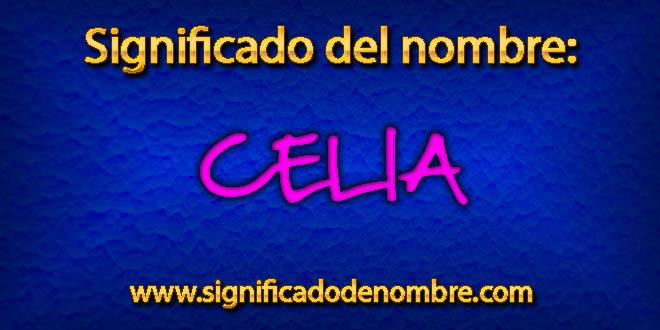 Significado de Celia