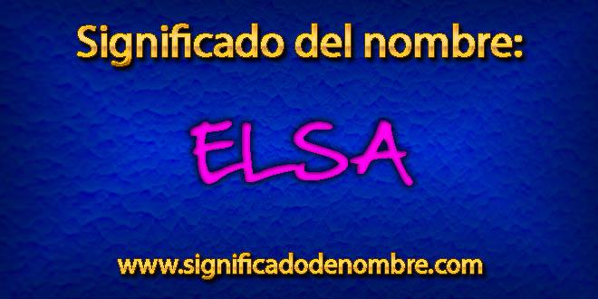 Significado de Elsa