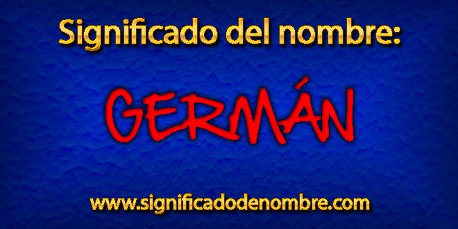 Significado de Germán