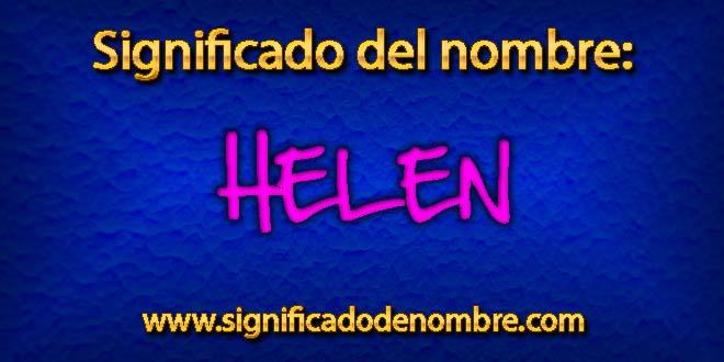 Significado de Helen