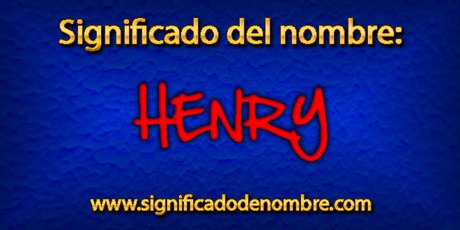 Significado de Henry