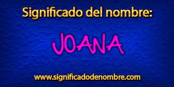 Significado de Joana