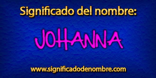 Significado de Johanna