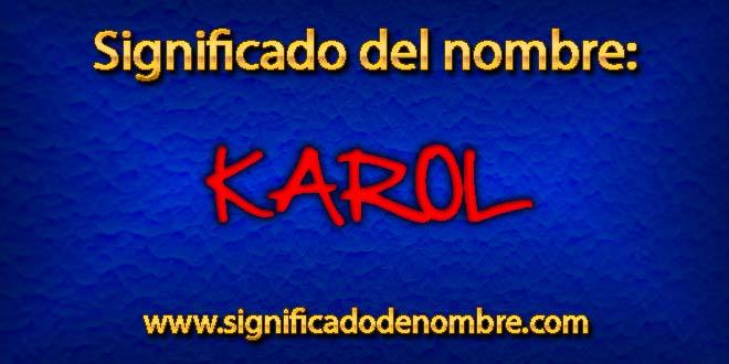 Significado de Karol