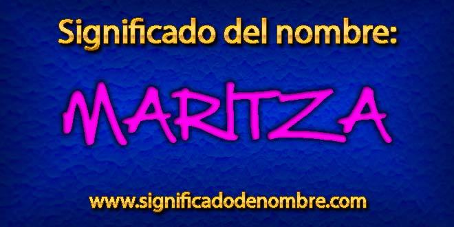 Significado de Maritza