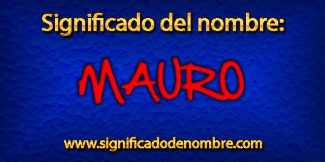 Significado de Mauro