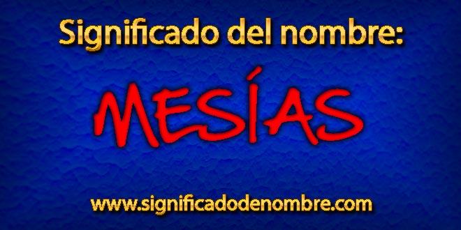 Significado de Mesías