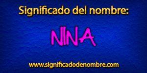Significado de Nina