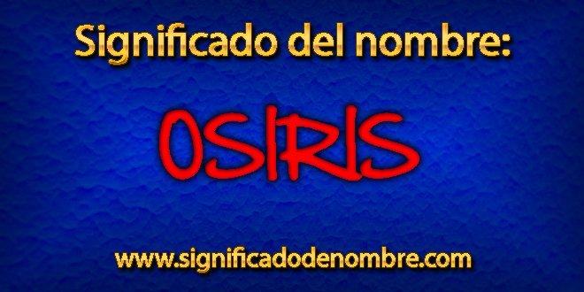 Significado de Osiris