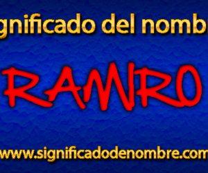 Significado de Ramiro