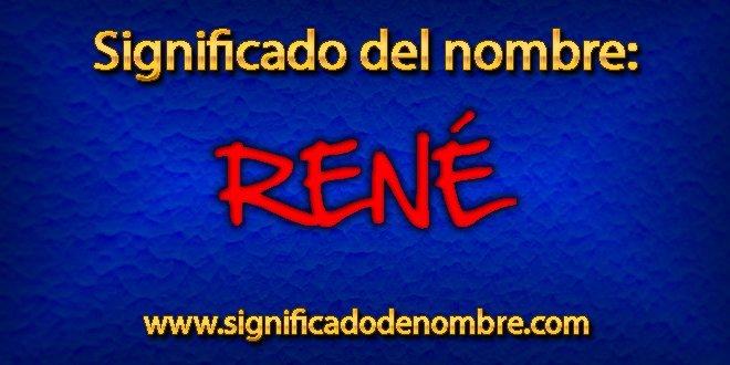 Significado de René