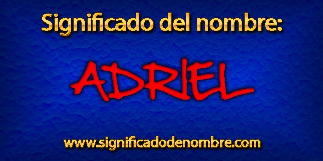 Significado de Adriel