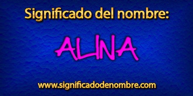 Significado de Alina