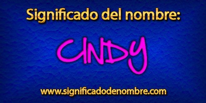 Significado de Cindy