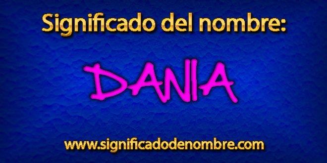 Significado de Dania