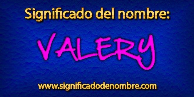 Significado de Valery