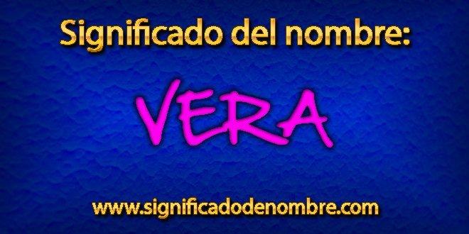 Significado de Vera