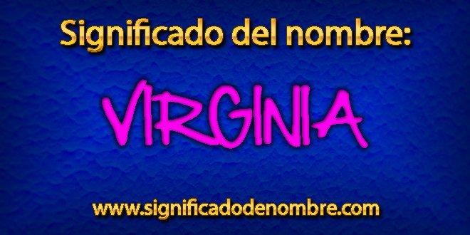 Significado de Virginia