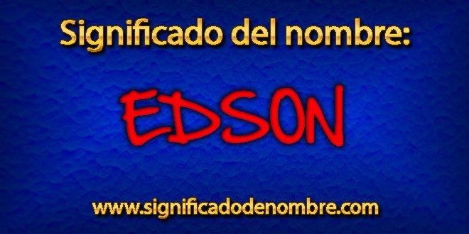 Significado de Edson
