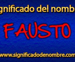 Significado de Fausto