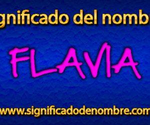 Significado de Flavia