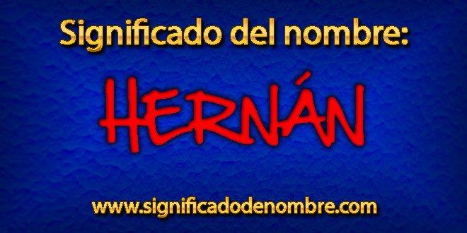 Significado de Hernán